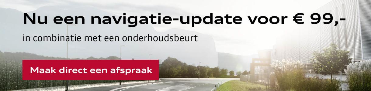 De Audi Navigatie-update: nu € 99,- i.c.m. onderhoud.