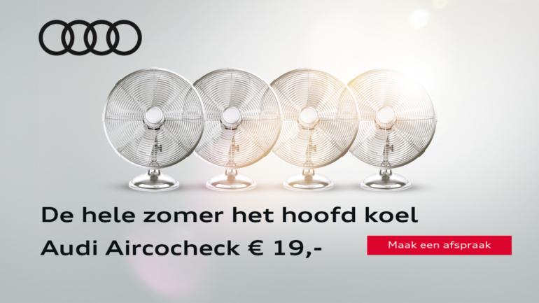 De Audi aircocheck: nu € 19,-