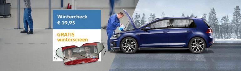 Kom veilig de winter door met de Volkswagen Wintercheck.